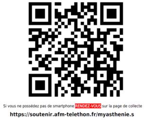 Téléthon 2020 collecte GI Myasthénies